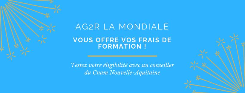 AG2R La Mondiale vous offre vos frais de formation avec Le Cnam Nouvelle-Aquitaine